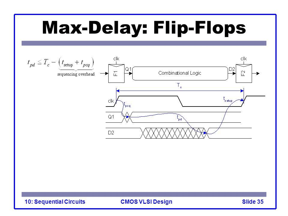 CMOS VLSI Design10: Sequential CircuitsSlide 35 Max-Delay: Flip-Flops