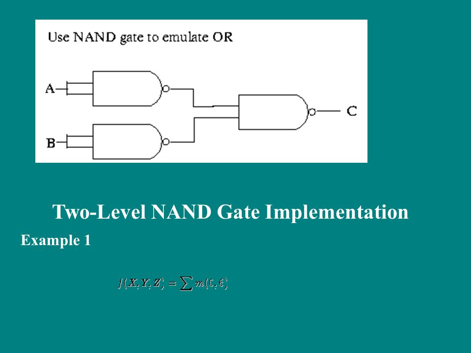 Two-Level NAND Gate Implementation Example 1