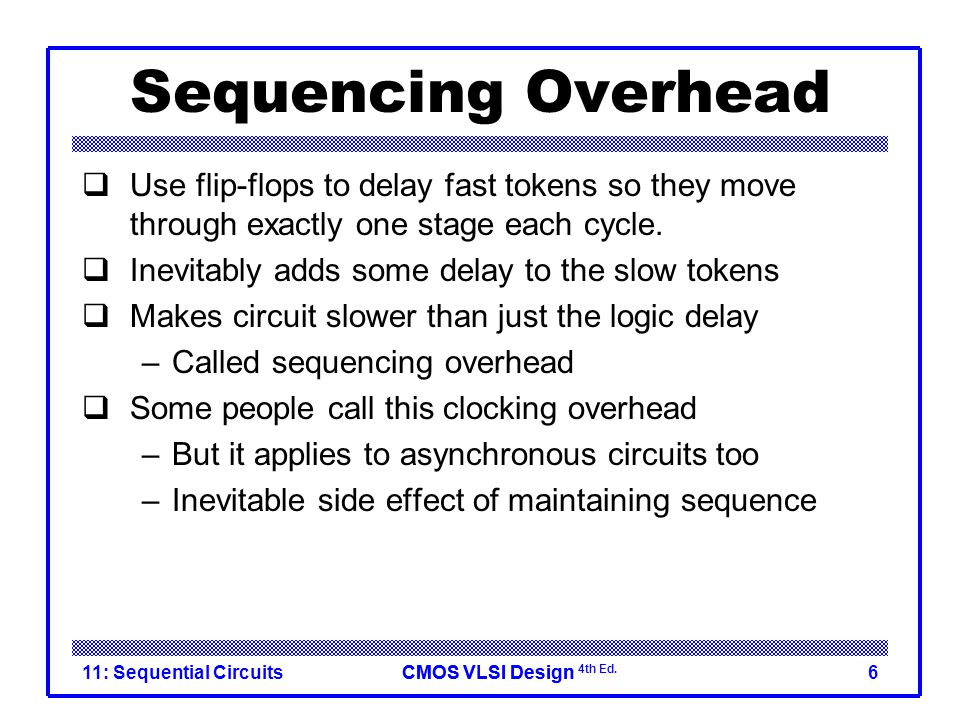 CMOS VLSI DesignCMOS VLSI Design 4th Ed. 11: Sequential Circuits27 Max Delay: Pulsed Latches
