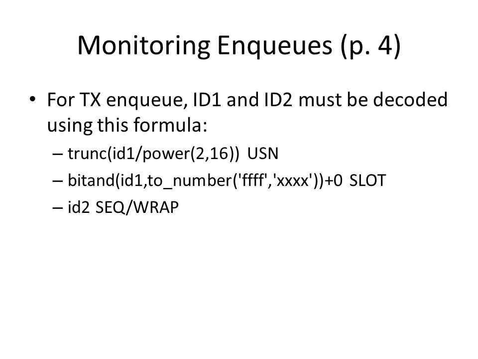 Monitoring Enqueues (p.