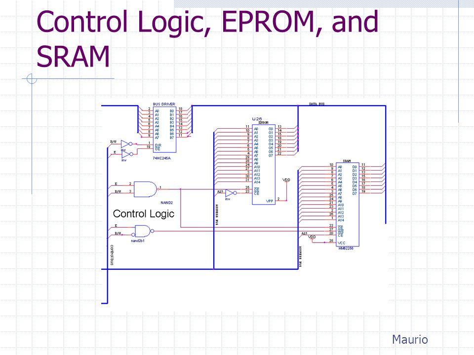 Control Logic, EPROM, and SRAM Maurio