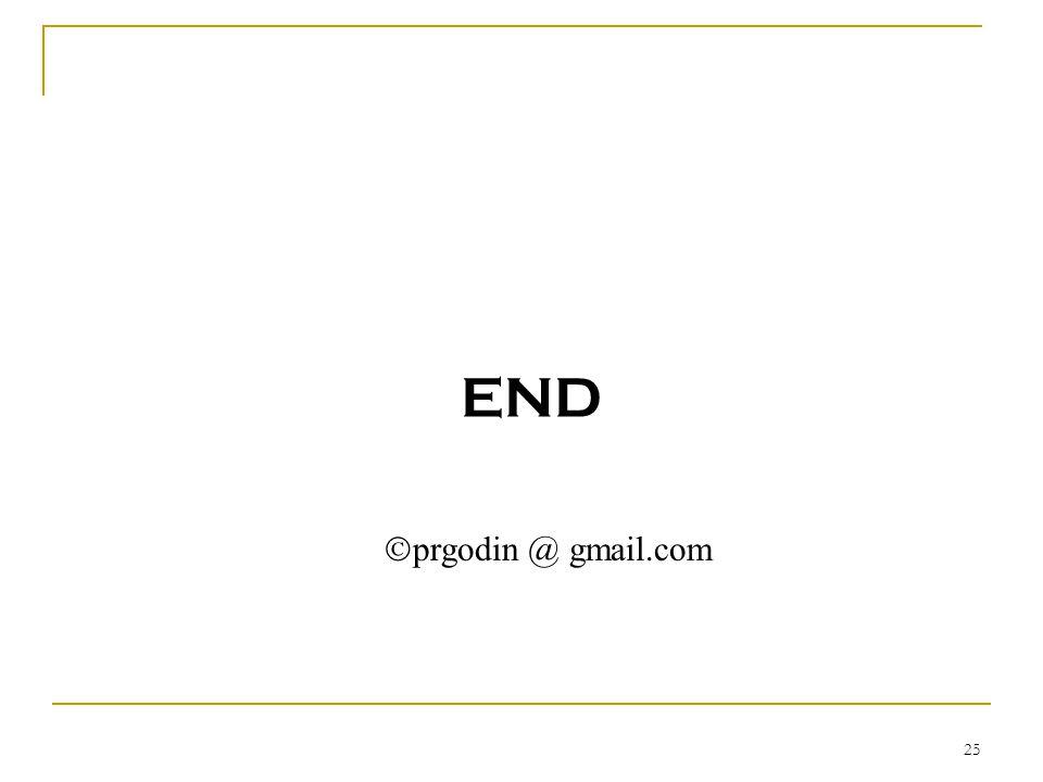 END  prgodin @ gmail.com 25