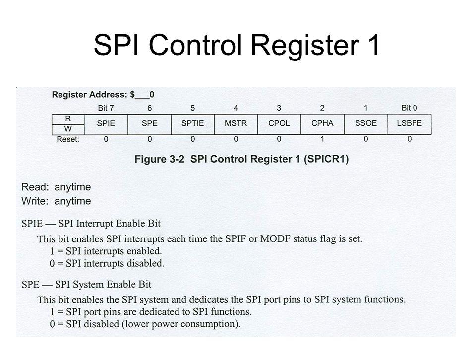 SPI Control Register 1
