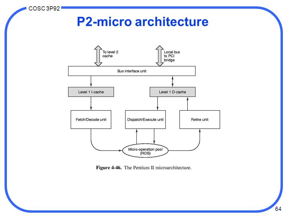 64 COSC 3P92 P2-micro architecture