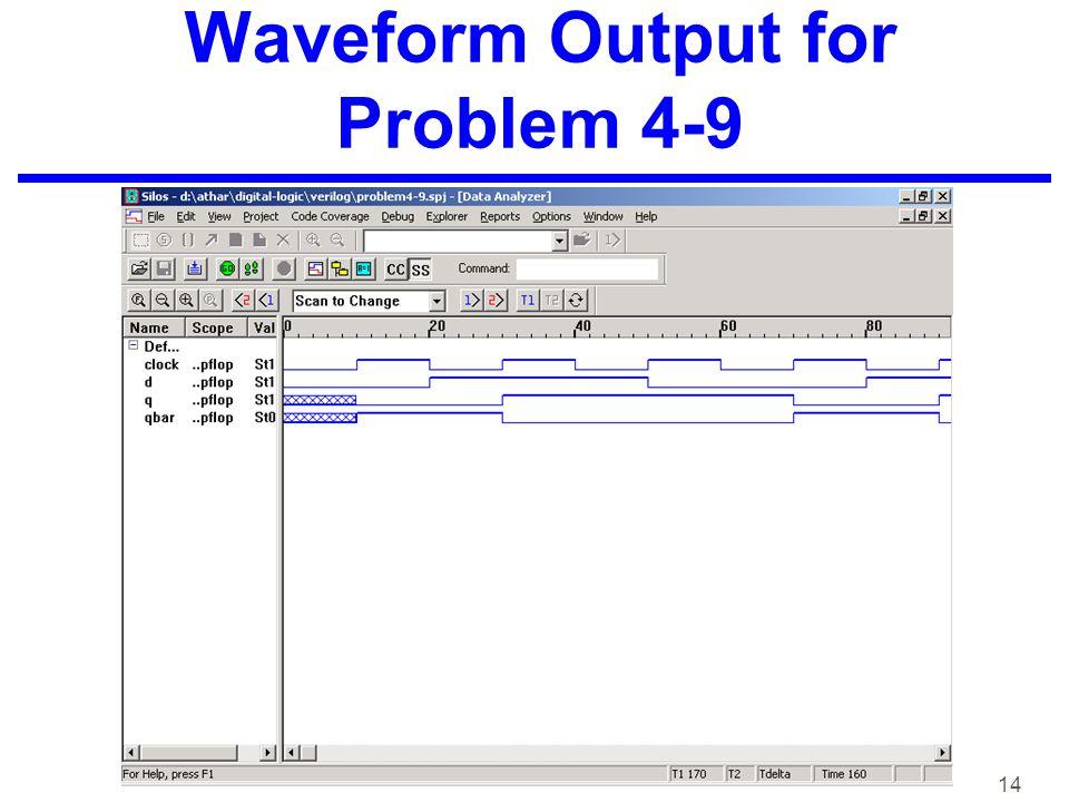 14 Waveform Output for Problem 4-9