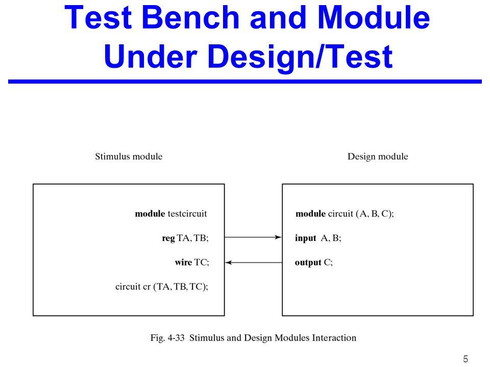 5 Test Bench and Module Under Design/Test