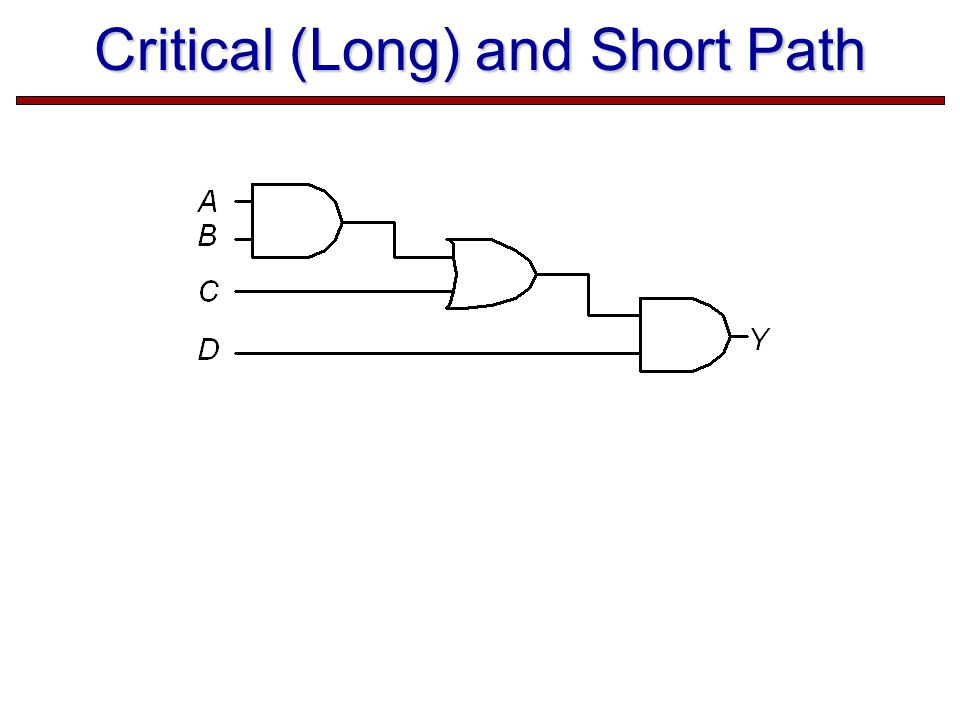 Critical (Long) and Short Path
