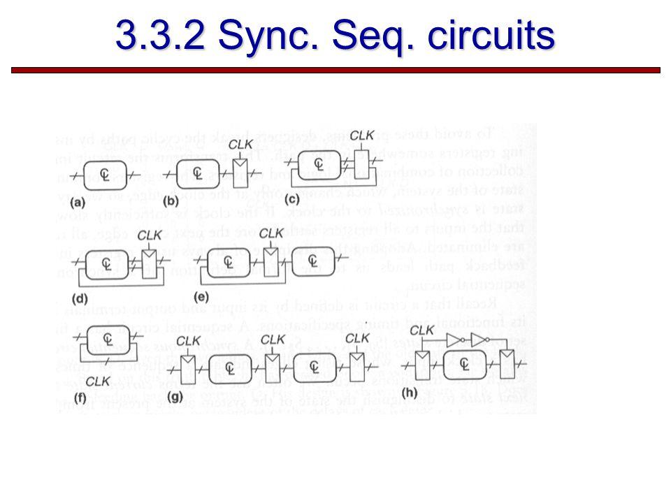 3.3.2 Sync. Seq. circuits