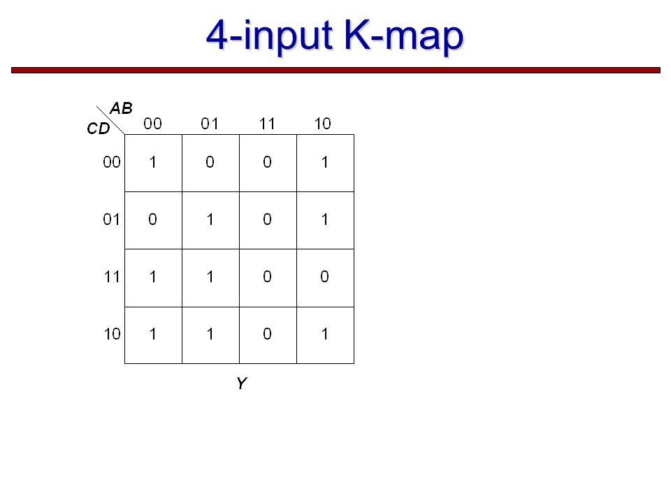 4-input K-map