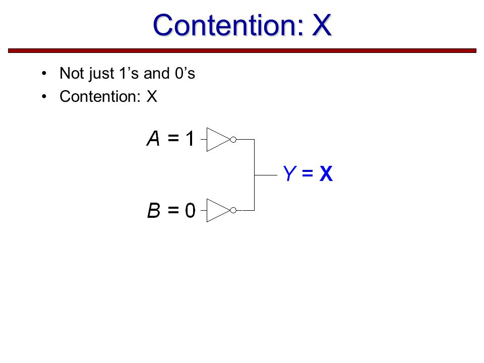Contention: X Not just 1's and 0's Contention: X