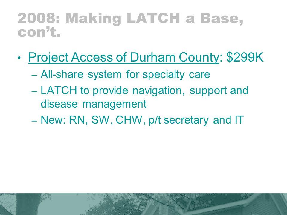 2008: Making LATCH a Base, con't.