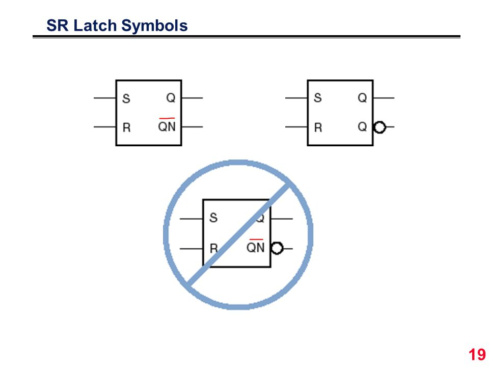 19 SR Latch Symbols