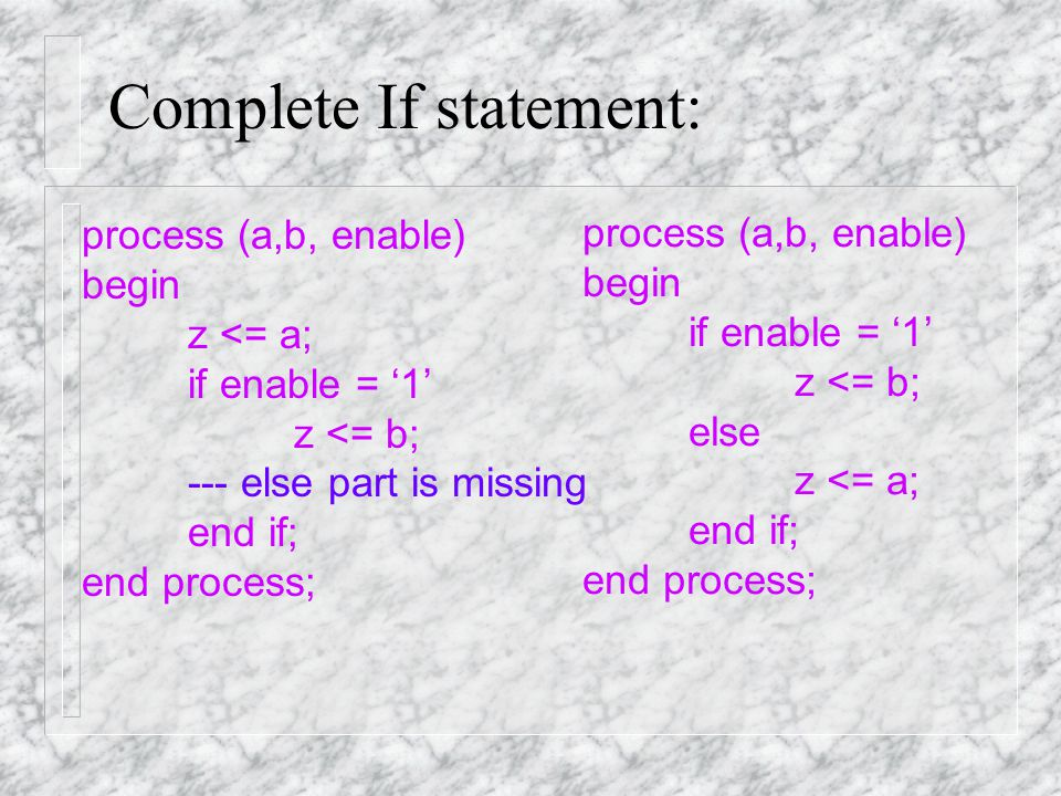 Incomplete If statement: What happens if there is a missing else part.
