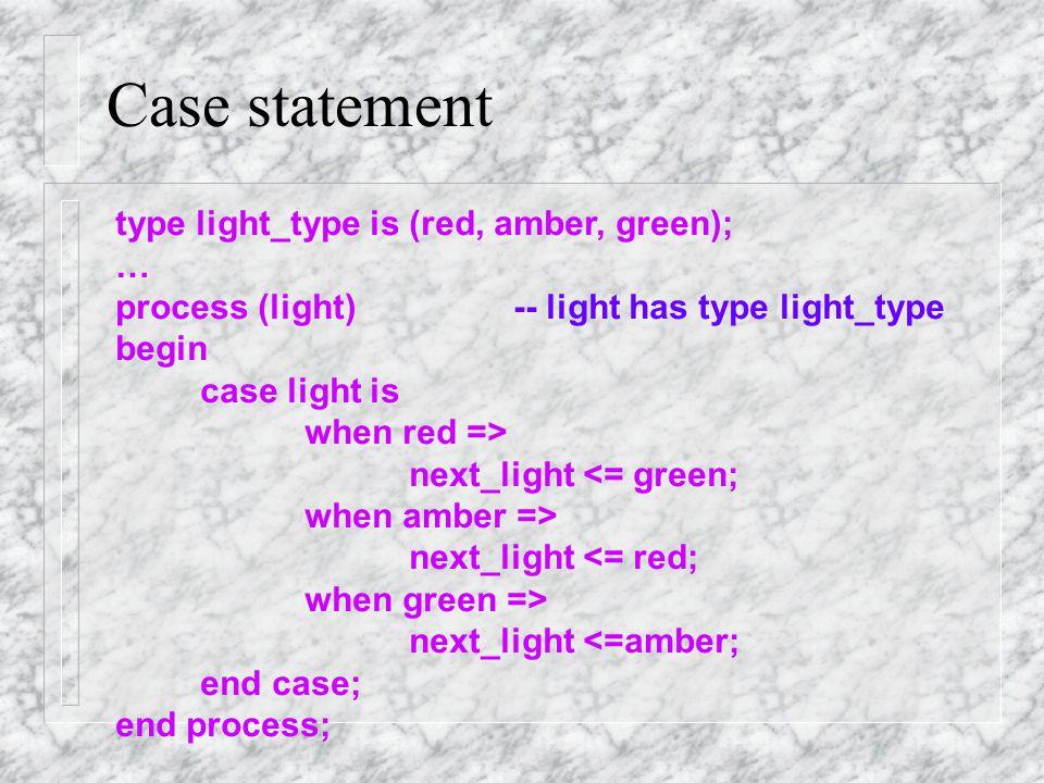 Case statement Case statement is like if statement.