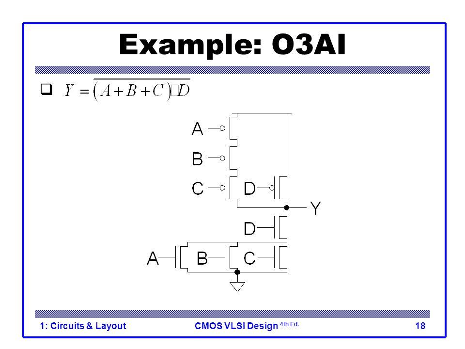 CMOS VLSI Design 4th Ed. 1: Circuits & Layout18 Example: O3AI 