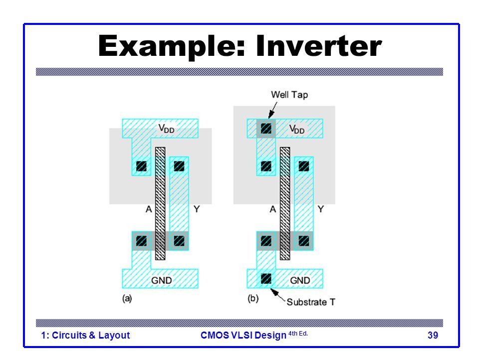 CMOS VLSI Design 4th Ed. 1: Circuits & Layout39 Example: Inverter