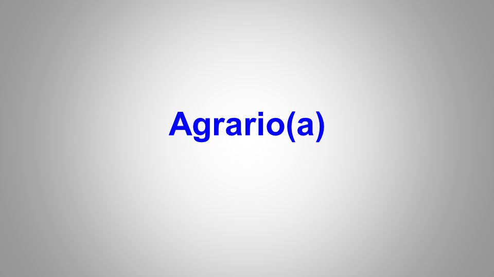 Agrario(a)