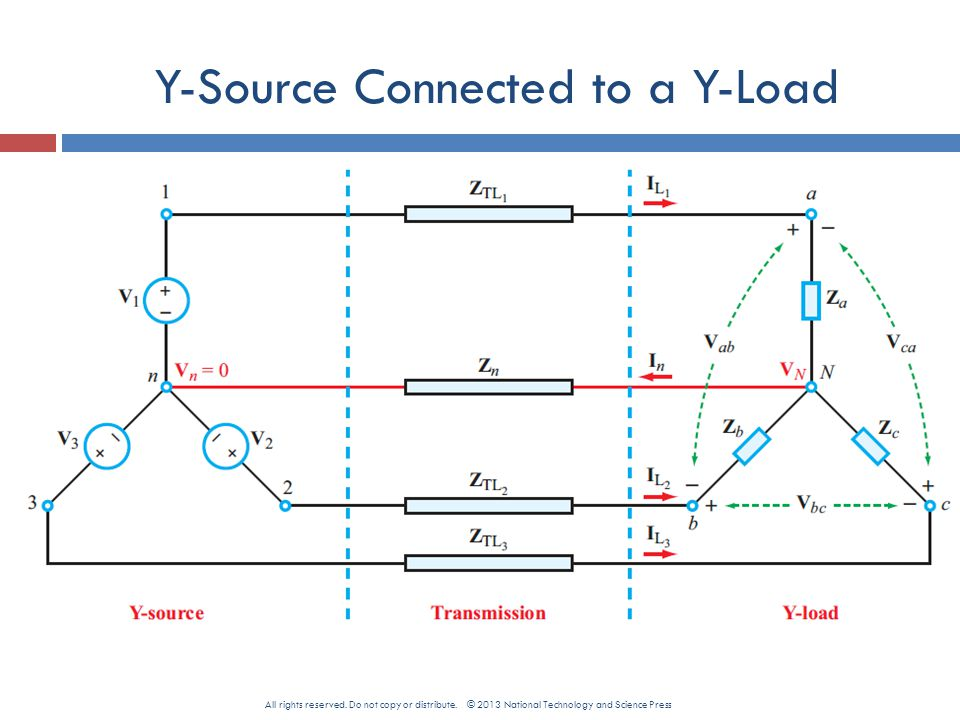 Y-Source Connected to a Y-Load All rights reserved.