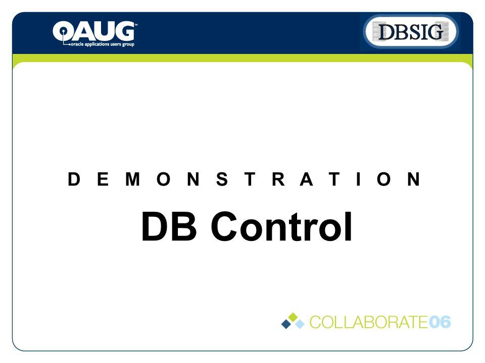 D E M O N S T R A T I O N DB Control