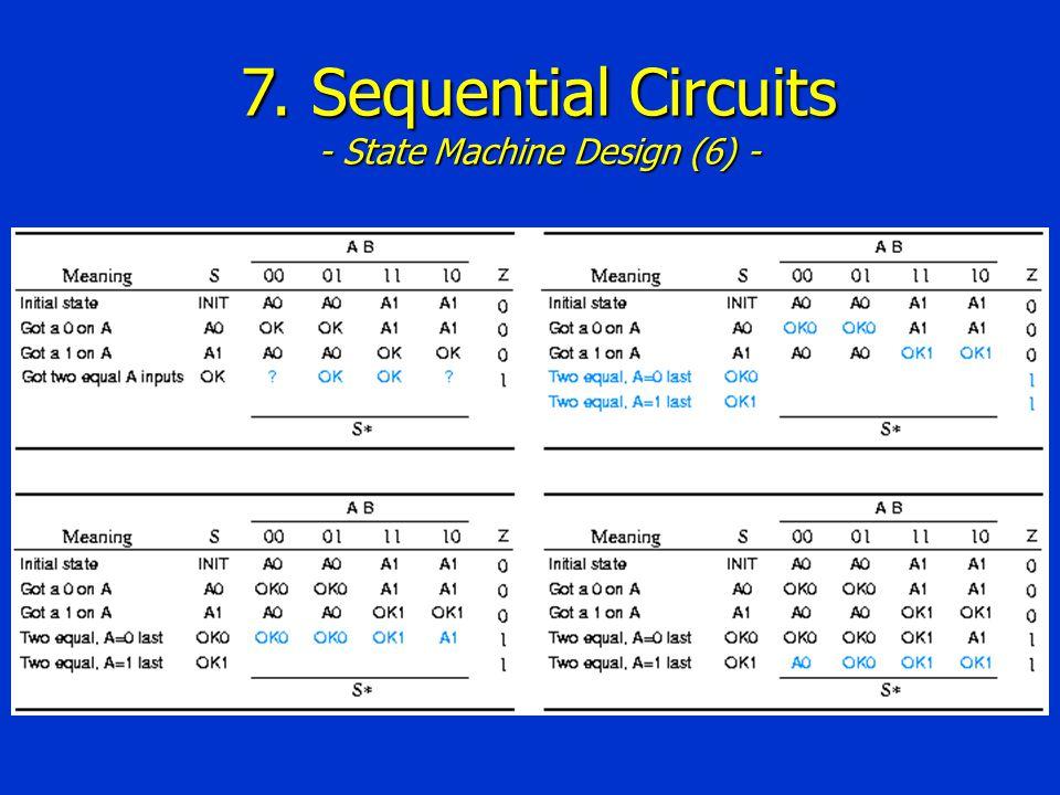 7. Sequential Circuits - State Machine Design (6) -