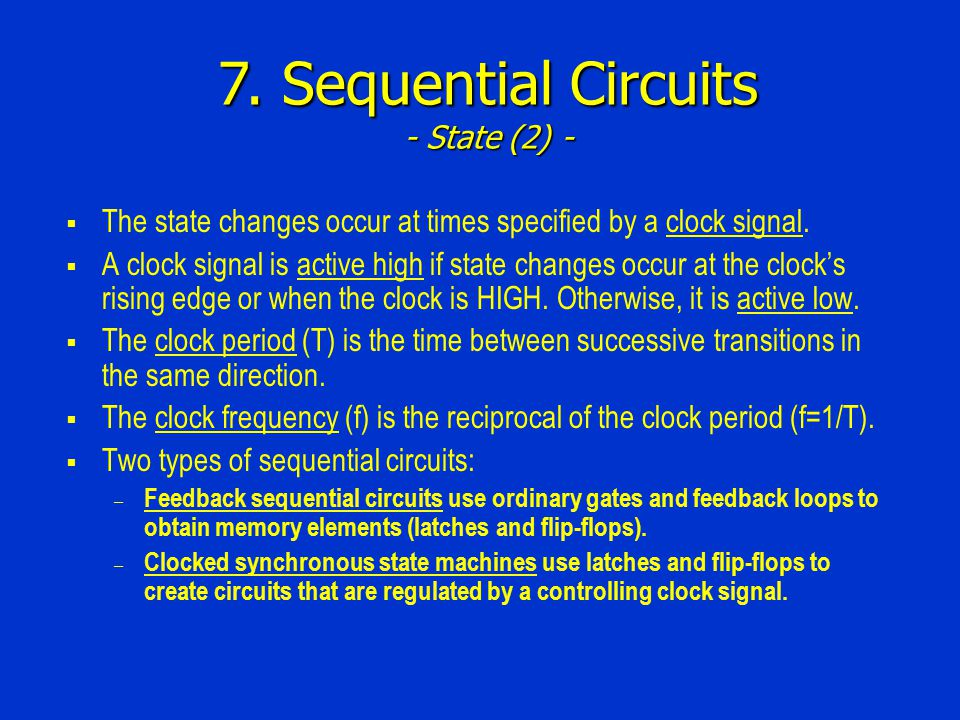 7. Sequential Circuits - State Machine Design (5) -