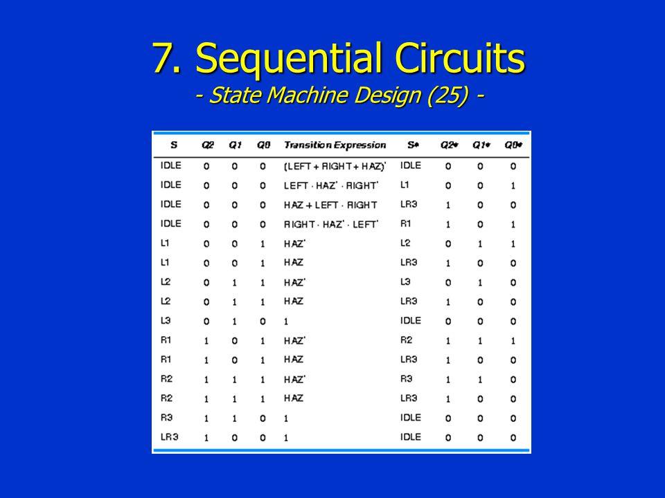 7. Sequential Circuits - State Machine Design (25) -