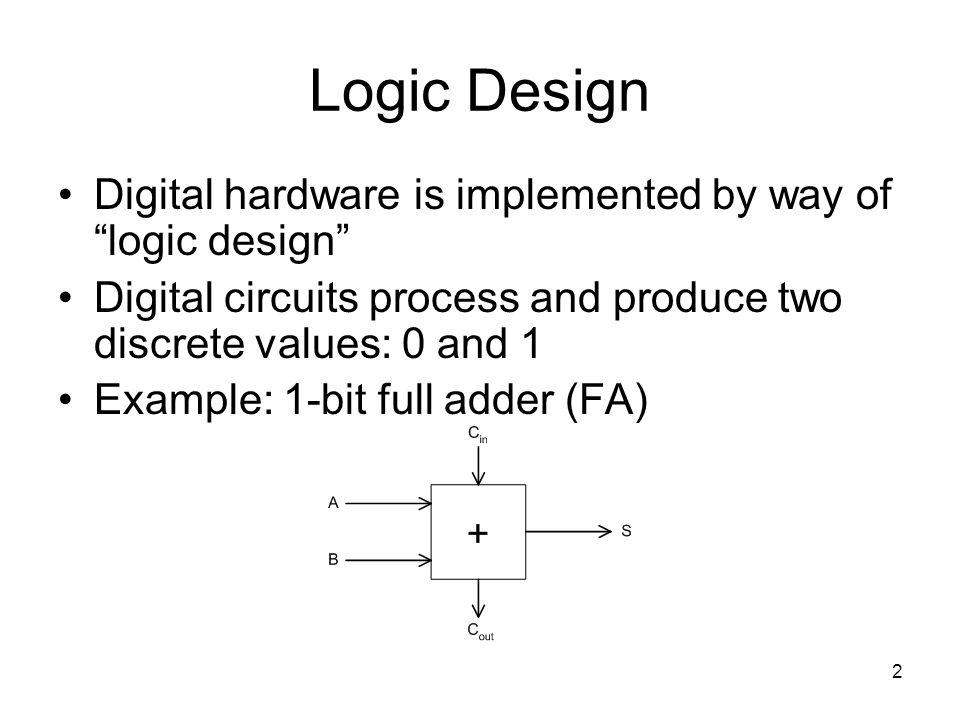 43 ALU Control Logic Design we'll return to this when we cover appendix B