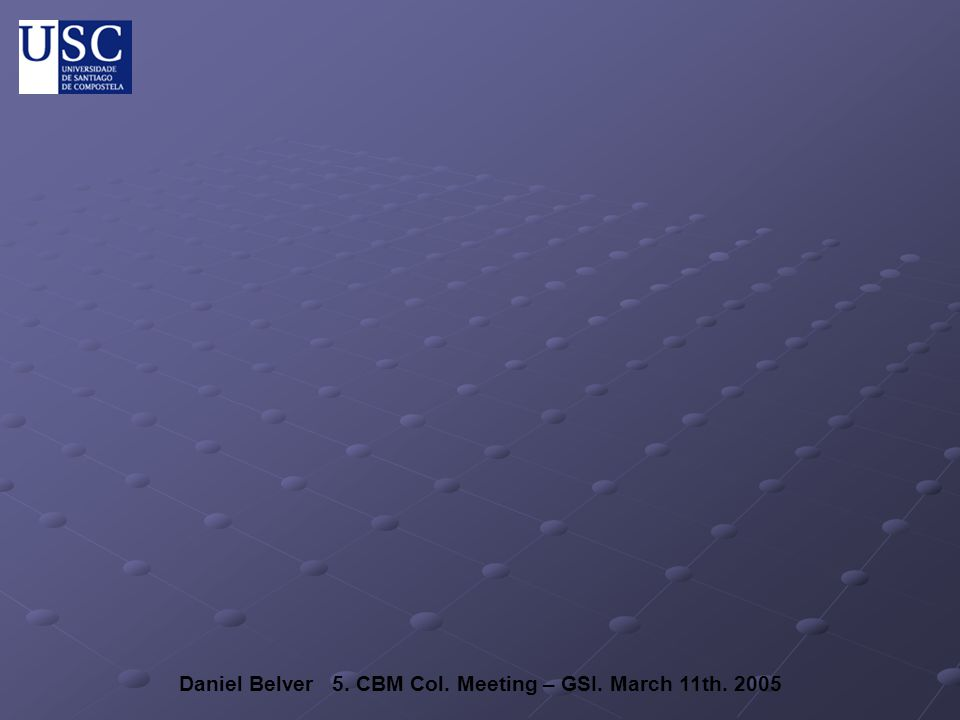 Daniel Belver 5. CBM Col. Meeting – GSI. March 11th. 2005