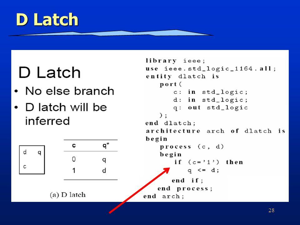 28 D Latch