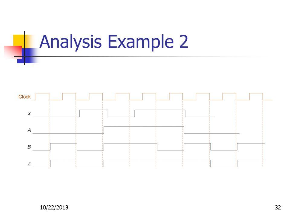 10/22/201332 Analysis Example 2
