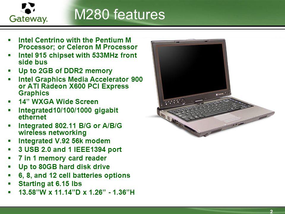 3 M280 main view ComponentIconDescription A.