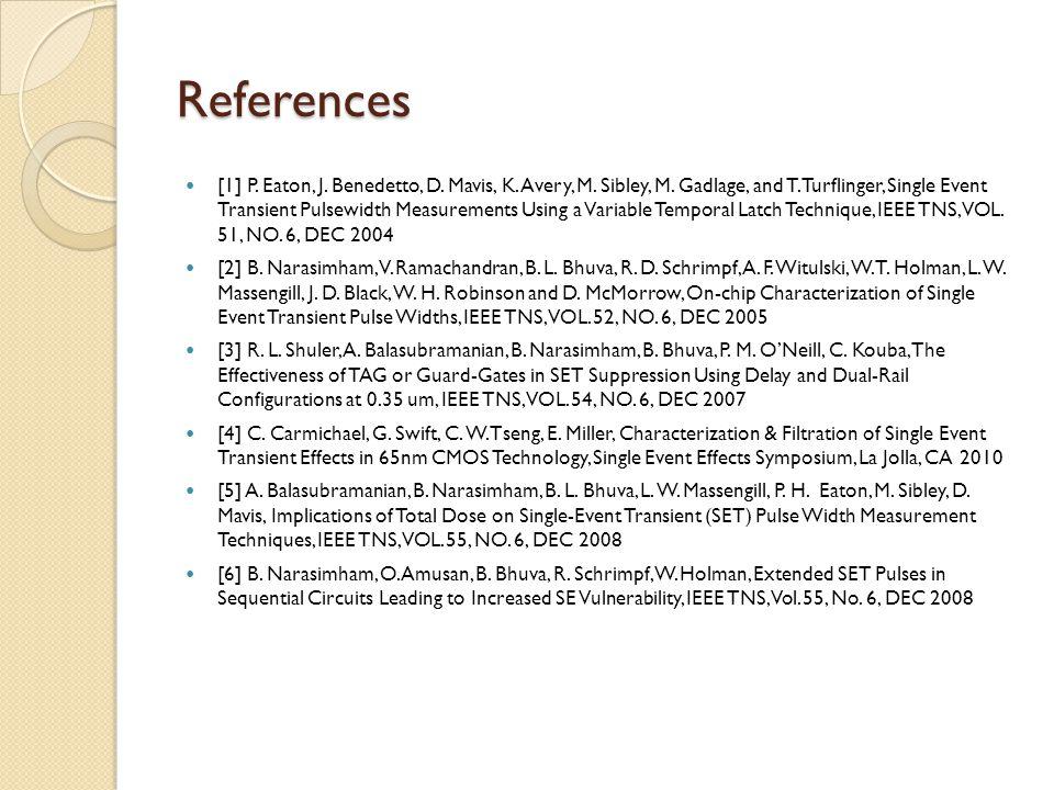 References [1] P. Eaton, J. Benedetto, D. Mavis, K.