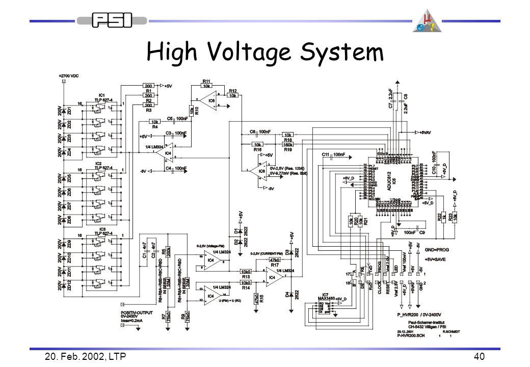20. Feb. 2002, LTP40 High Voltage System