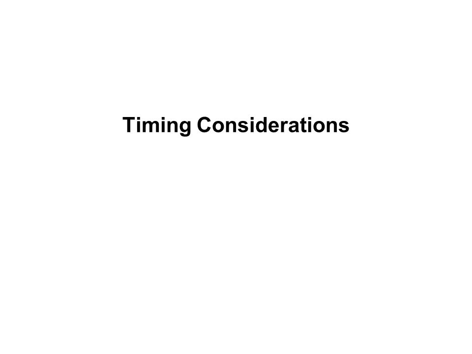 Timing Considerations