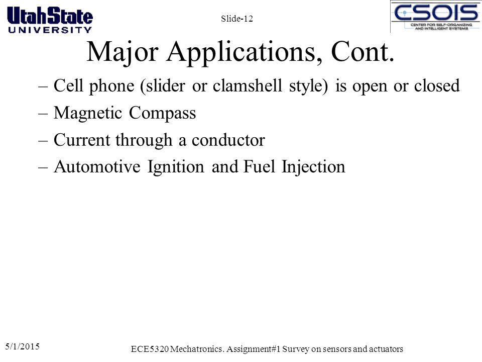Major Applications, Cont.