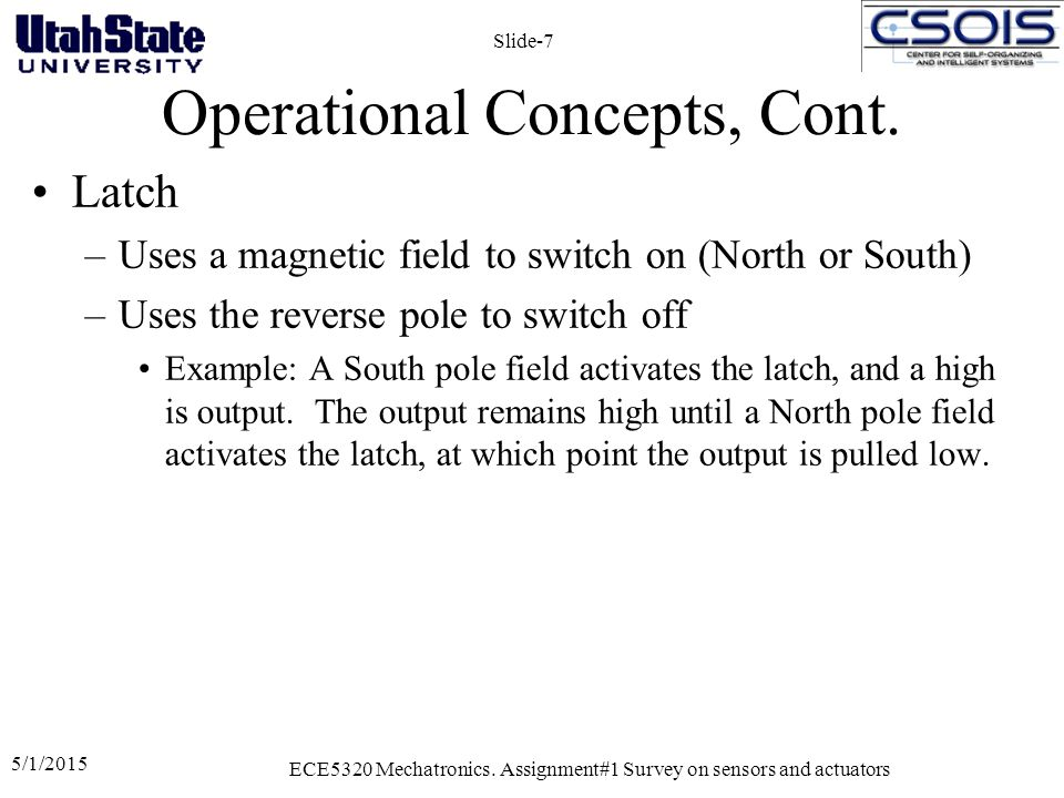 Operational Concepts, Cont.