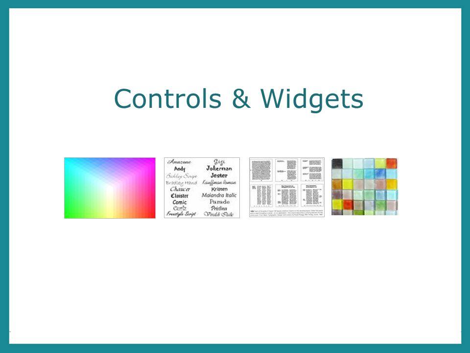 Controls & Widgets