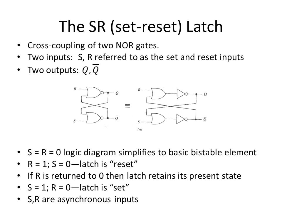 The SR (set-reset) Latch