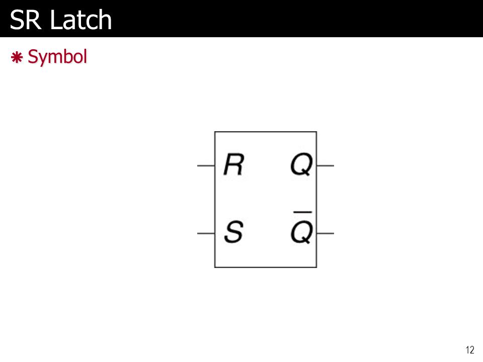 SR Latch  Symbol 12