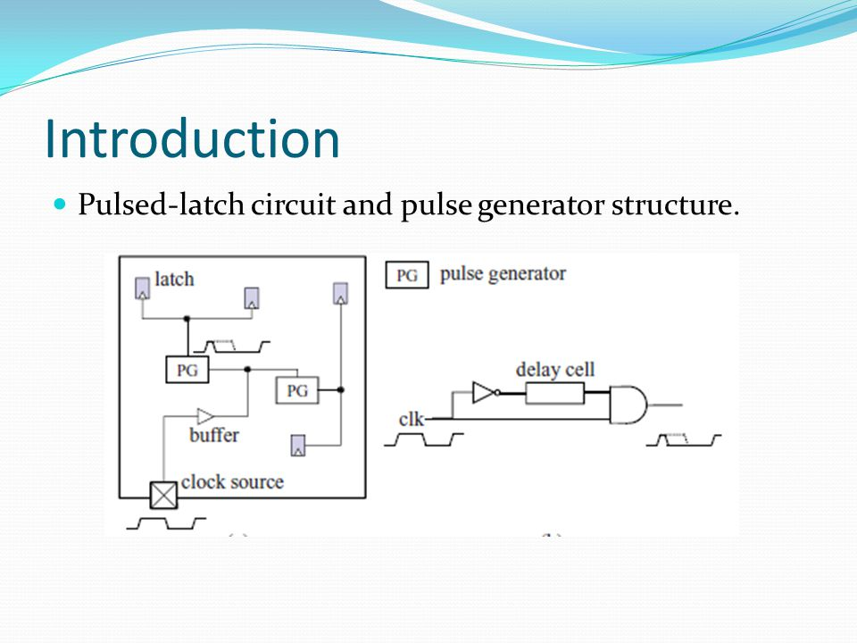 Introduction Pulsed-latch circuit and pulse generator structure.