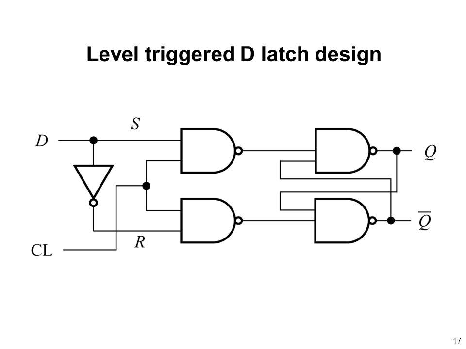 17 Level triggered D latch design