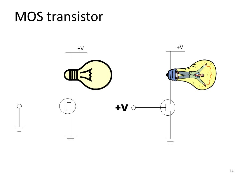 MOS transistor 14 +V
