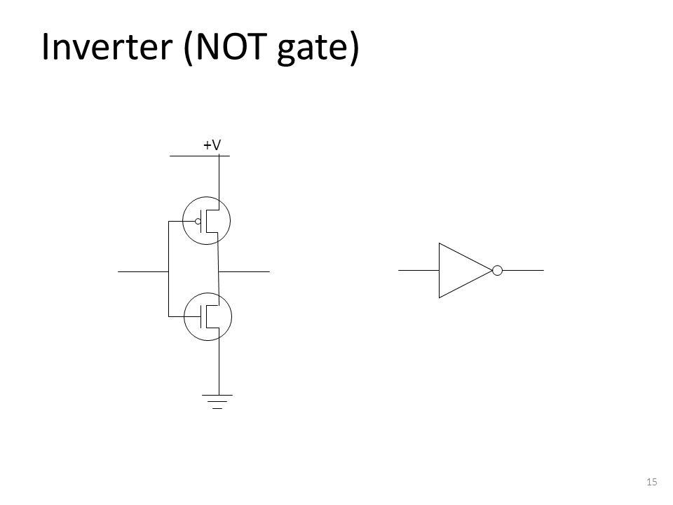 Inverter (NOT gate) 15 +V