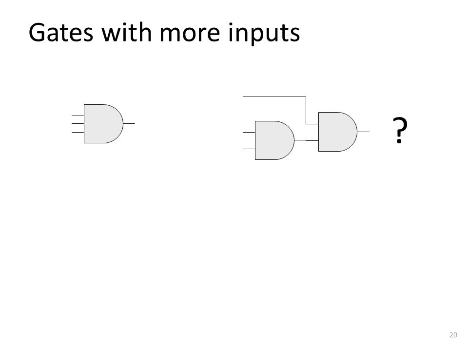 Gates with more inputs 20 ?