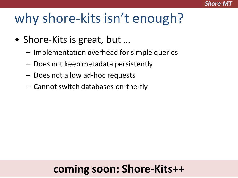 Shore-MT why shore-kits isn't enough.