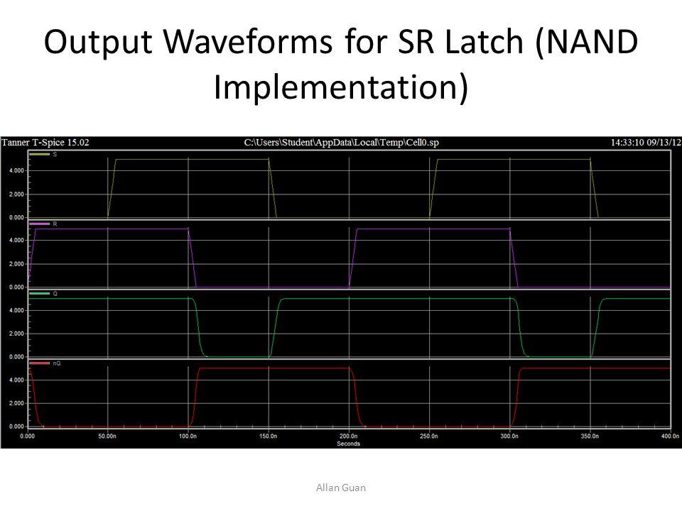 D Flip-Flop Truth Table ClockDQnQn Q n+1 0X00 0X11 10X0 11X1 SR Latch Implementation This is an SR latch.