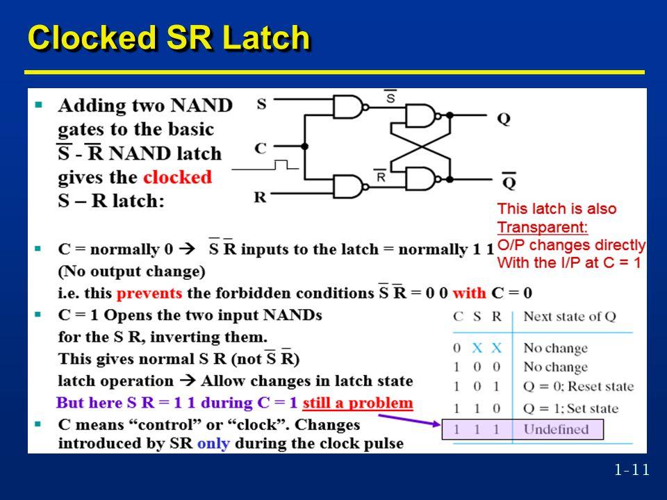 1-11 Clocked SR Latch