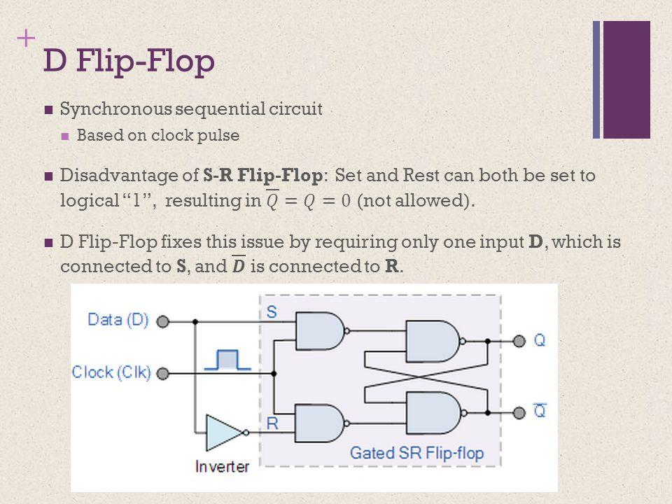 + D Flip-Flop
