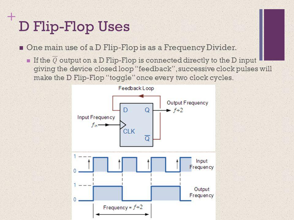 + D Flip-Flop Uses