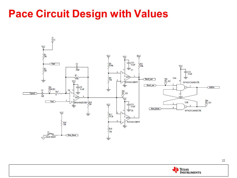 Pace Circuit Design with Values 22